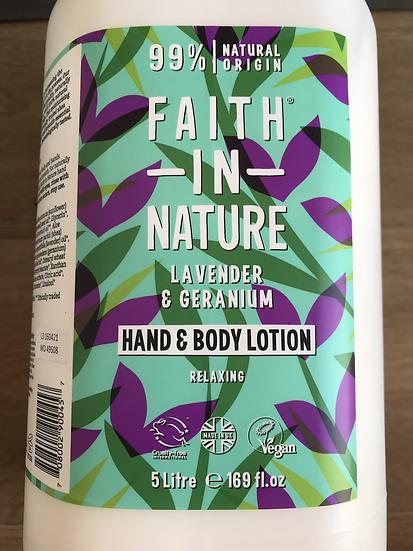 Faith in Nature body lotion - lavender & geranium (100ml)
