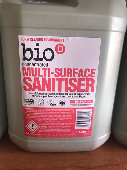 Bio-D multi surface sanitiser - concentrate (100ml)