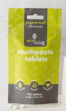 Toothpaste tablets with fluoride (125 tablets)