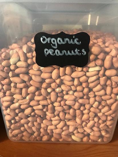 Organic peanuts (100g)