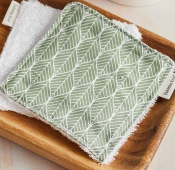 Large reusable organic bamboo & cotton make-up pads (5s)