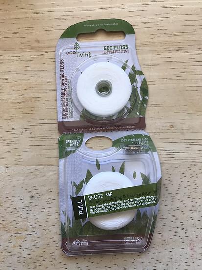 Biodegradable plant-based dental floss (2 pk)