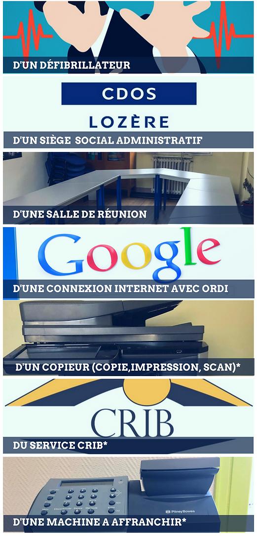 Services du CDOS Lozère