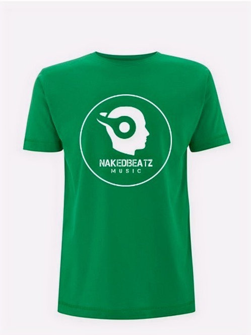 NAKEDBEATZ KELLY-GREEN T-SHIRT (LARGE LOGO)