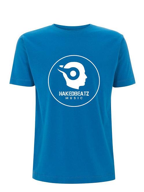NAKEDBEATZ ELECTRIC BLUE T-SHIRT (LARGE LOGO)