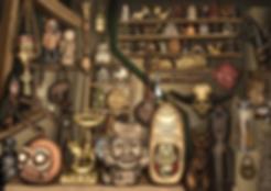 oli rogers, stegosaurus, art, illustration, illustrator, digital, surreal, lowbrow, magic, airbrush, psychedelic, alternative, retro, fantasy, spiritual, arcane, esoteric, alchemy, monsters, creatures, character, spooky, anthropology, relic, museum