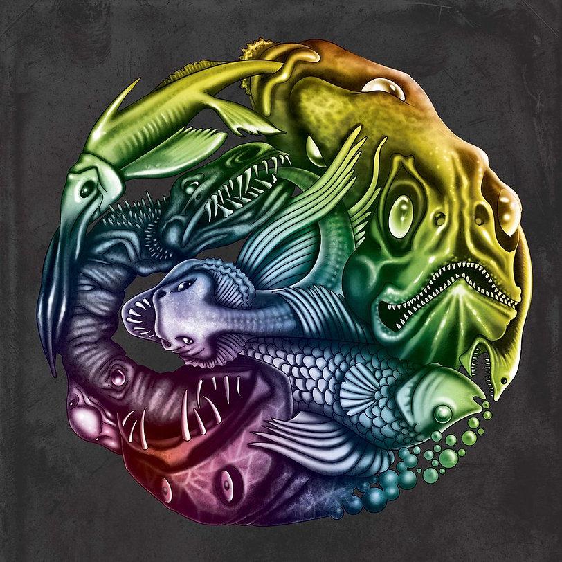 oli rogers, stegosaurus, art, illustration, illustrator, digital, surreal, lowbrow, magic, airbrush, psychedelic, alternative, retro, fantasy, spiritual, arcane, esoteric, alchemy, monsters, creatures, character, spooky, futurism