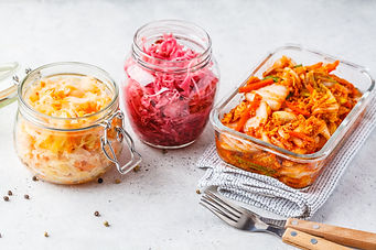 Korean kimchi cabbage, beet sauerkraut a