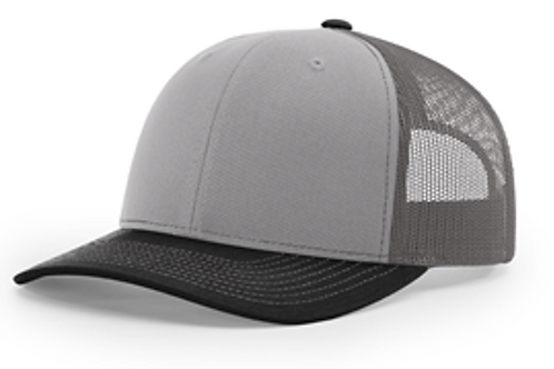 Rodtuggerz Leather Logo Patch Hat - Charcoal / Black / Grey