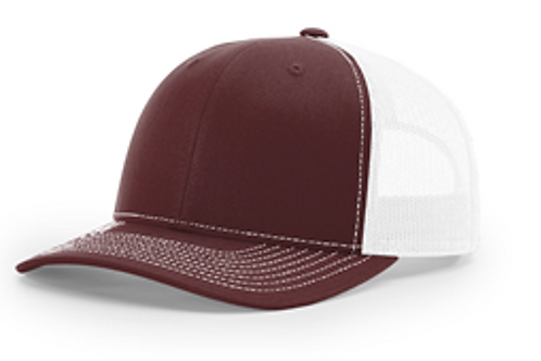 Rodtuggerz Leather Logo Patch Hat - Maroon / White