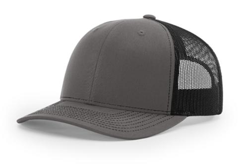 Rodtuggerz Leather Logo Patch Hat - Charcoal / Black