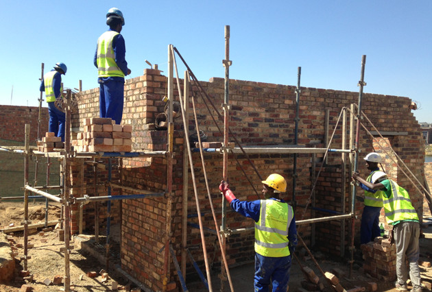 Double story house construction