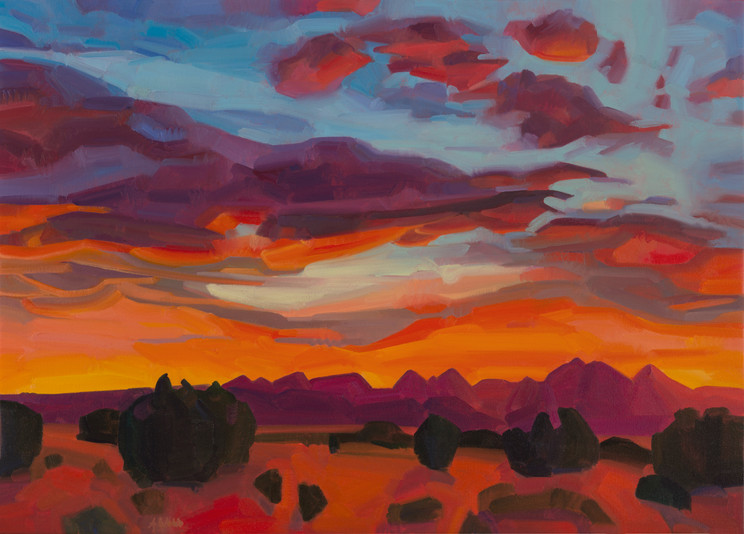 Sunset Over The Jemez
