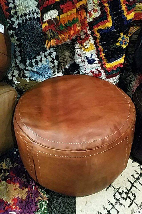 Ottoman Contemporary XL Round Tan.