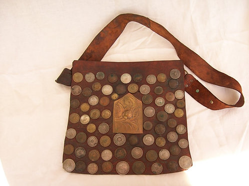 Water-carrier Coin leather Bag large