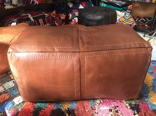 Ottoman Contemporary Rectangle Tan