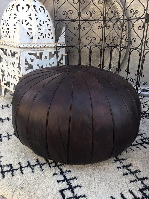 Ottoman Parachute XL Round Dark Brown