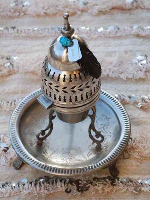 Vintage Silver Oud/Incense Burner