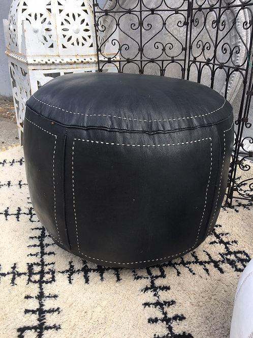 Ottoman Contemporary XL Round Black