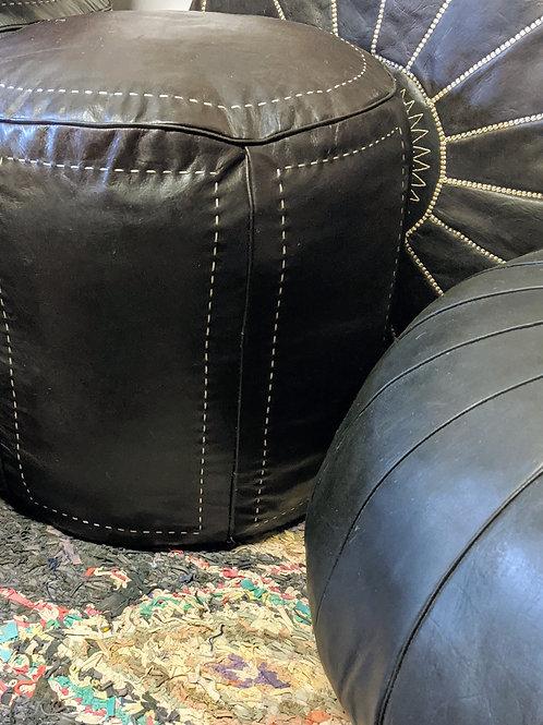Ottoman Contemporary Round Black