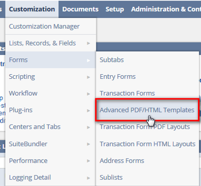 How to create NetSuite's PDF-HTML Advanced templates