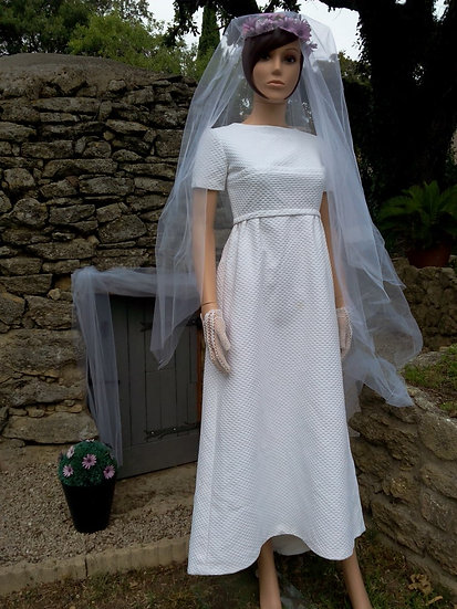Robe mariée vintage années 60/70 Taille 36