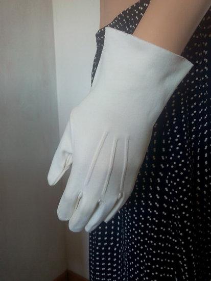 Gants suédine blanc Taille 7-8