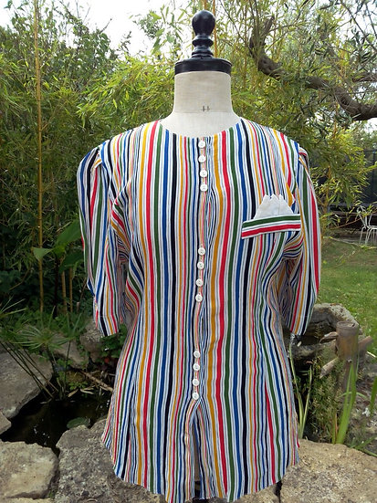 Chemisier vintage rayures Taille 40/42