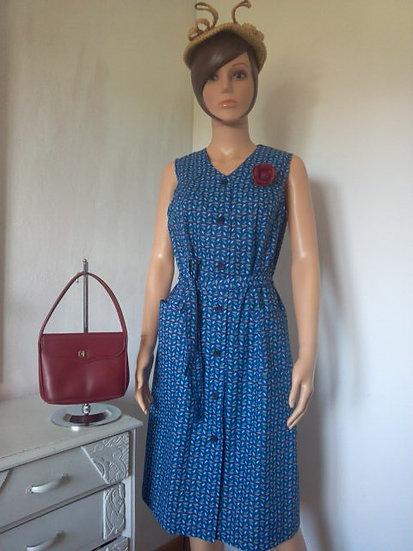 Robe tablier vintage taille 42