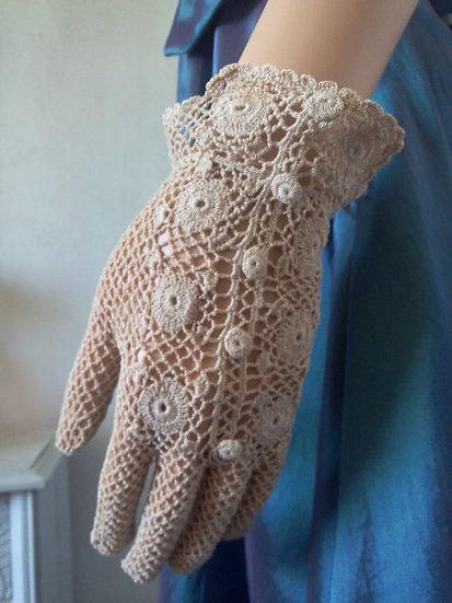 Paire de gants crochet