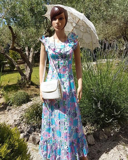 Robe très longue à fleurs hippie chic taille 36/38