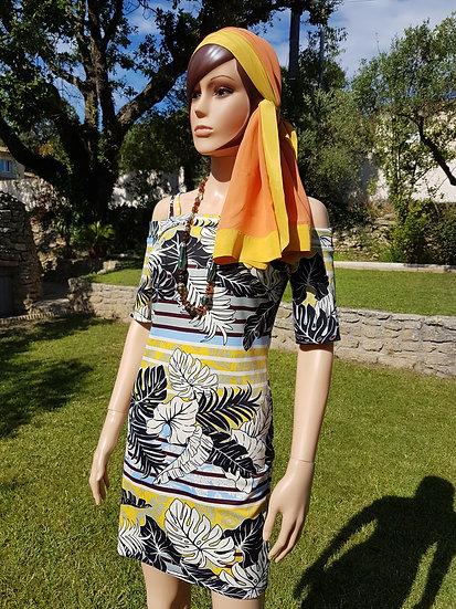 Robe tissu jungle taille S