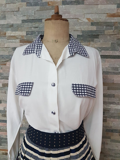 Chemise oversize vintage vichy taille 38/40