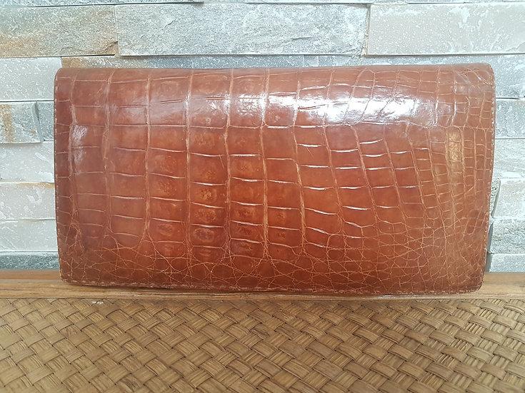 Pochette cuir et serpent vintage année 60/70