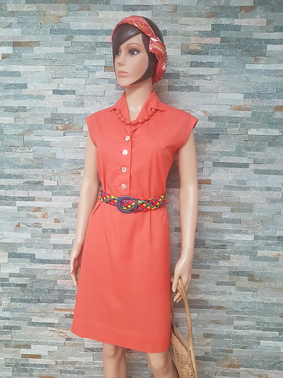 Robe vintage corail année 70/80 taille 42/44