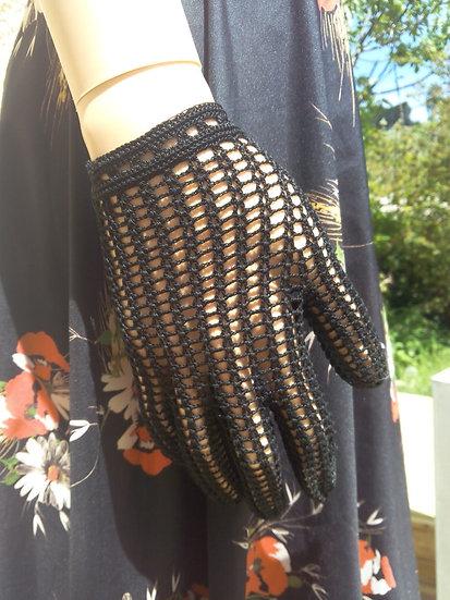 Gants crochet noir T8