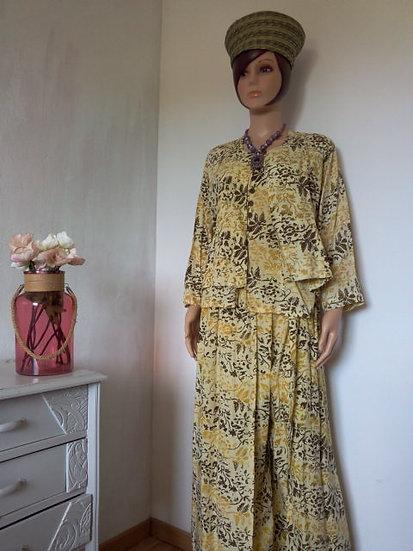 Ensemble 3 pièces tissu Batik Taille M