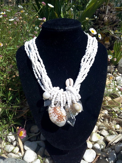 Collier perles fines coquillage