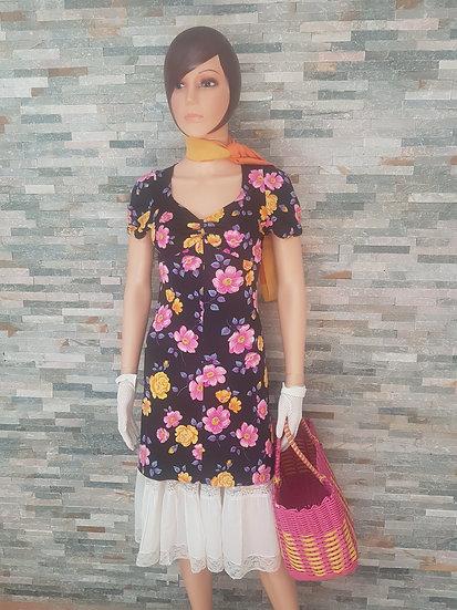 Robe courte fleurie vintage Taille 36