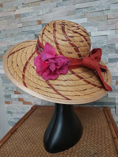 Chapeau capeline bois exotique