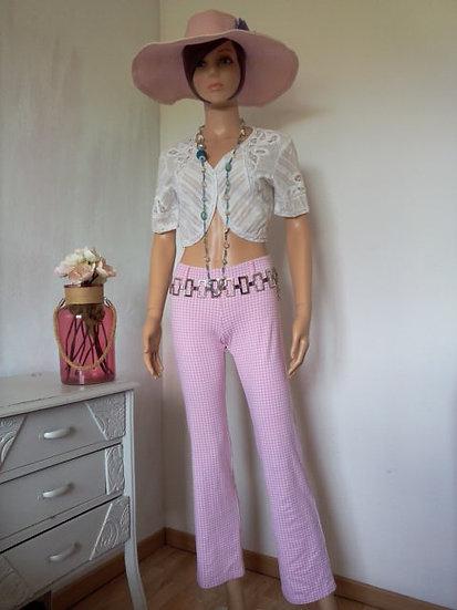 Pantalon stretch vichy Taille 34/36