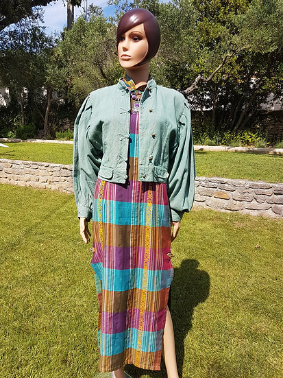 Veste over-size en lin indonésienne vintage taille 40/42