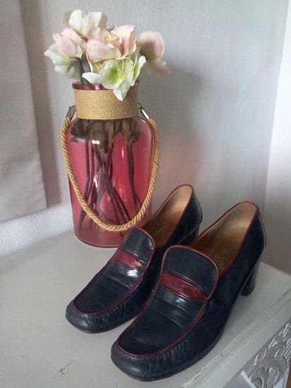Chaussures vintage en cuir P 38