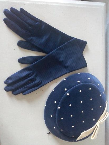 Paire de gants marine