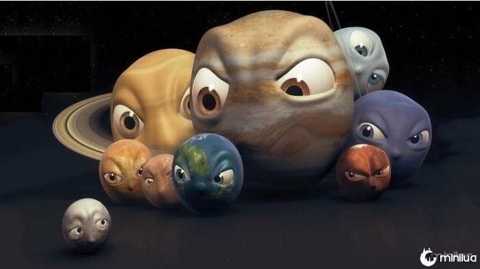 Saturno e Plutão Retrógrados