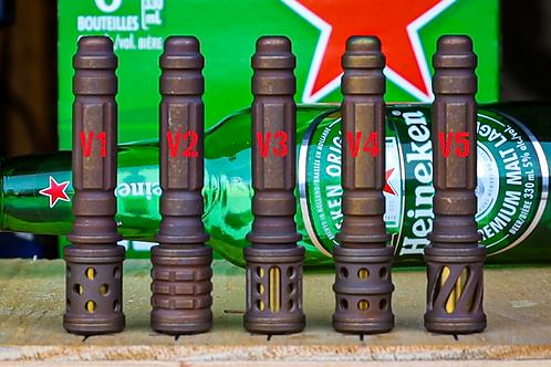 Vintage bronze Ti Concealed pipe