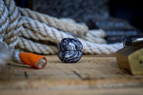 Silver rum DiamondCast Civilian bead