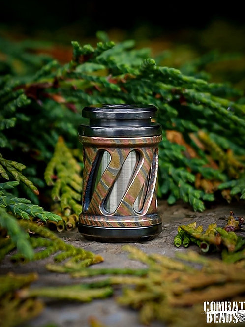 Full size V5 Concealed bead in nickel silver and mokume