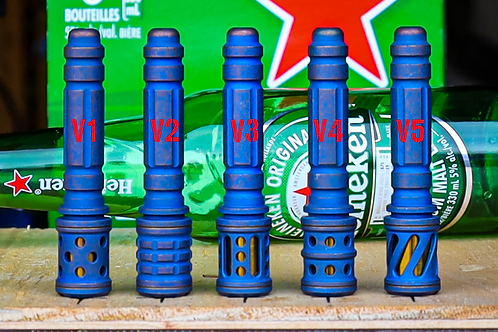 Vintage blue Ti Concealed pipe
