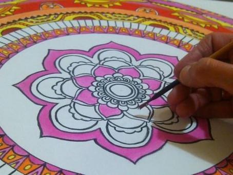 Como pintar un mandala